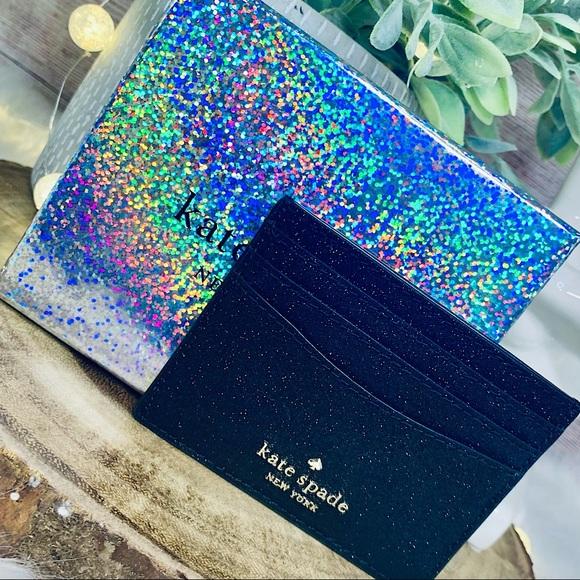 Kate Spade Lola Glitter Cardholder Gift Box Set